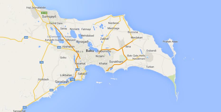 موقعیت جغرافیایی باکو